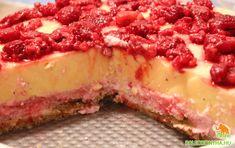 Málnás vaníliapuding torta - Paleo konyha