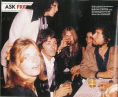 Linda McCartney, Sara Dylan, Paul McCartney, Gregg Allman, Cher, Bob Dylan.