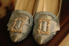 Marie Antoinette Shoes/Classic blue satin