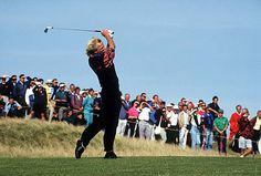 Nobody ever looked better swinging a golf than Greg Norman at the 1993 British Open at Royal St. Georges.