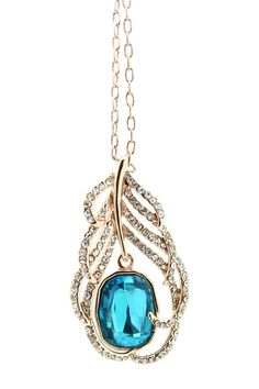 Crystal My Feather Pendant Necklace from HauteLook on Catalog Spree