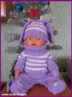 Baby Born Clothes, Pet Clothes, Doll Clothes, Knitting Dolls Clothes, Knitted Dolls, Girl Dolls, Baby Dolls, Knit Crochet, Crochet Hats