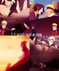 Undying friendship between Sasuke and Naruto. A friendship like that ♥ Narusasu, Sasunaru, Naruhina, Naruto E Sasuke, Anime Naruto, Naruto Shippuden, Amazing Beasts, Naruto Quotes, Naruto Teams