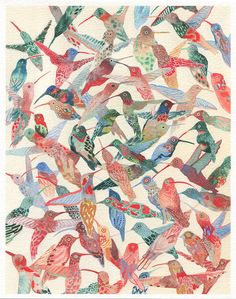 Hummingbirds Larger Archival Prints #affiliate