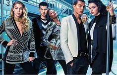 Read all about the first shot from the Balmain x H&M campaign
