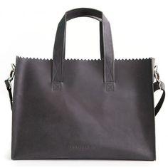 MYOMY PAPER BAG Baby Off Black #paperbag #luiertas #diaperbag #leer #leather