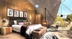 The Highlands tent interior bedroom