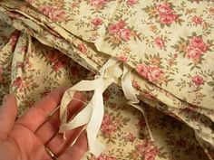 Antique French Linen Duvet Tea Stained Fabric by SimplyCottageChic 165.00