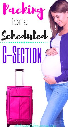 C-section Hospital bag. Are you having a scheduled c-section? Here is everything you need to pack in your hospital bag for your scheduled c-section! These hospital bag must haves are essential for a smooth cesarean recovery! You'll be so happy you packed them! #csection #hospitalbag #baby #pregnancy #scheduledcsection