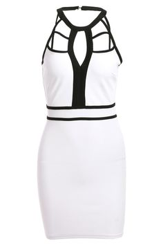 $13.14 Stylish Women's Halter Cut Out Bodycon Dress