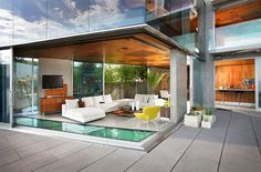 Lemperle Residence living room by Jonathan Segal