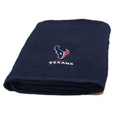 Texans 25x50 Applique Bath Towel
