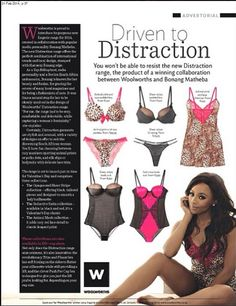 """Bonang Matheba Launches Lingerie Line – """"Bonang for Distraction"""" for Woolworth's South African Queen Of Everything, True Love, Product Launch, African, One Piece, Lingerie, Collection, Black, Fashion"""