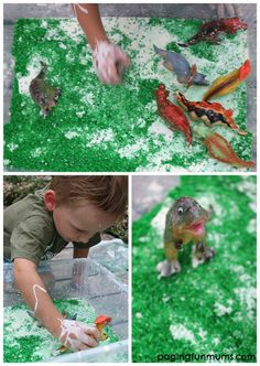 Dino Sludge - only 4 ingredients! Awesome sensory experience!