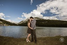 Love when we get lucky and have warm days in September! We had a chance to photograph this lovely couple at Two Jack Lake in Banff National Park! The 38 Photography - Engagement Photography - love the drama of this image :)