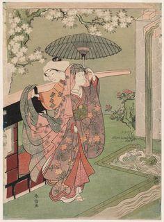 Title:清水小町 A Modern Version of Ono no Komachi at Kiyomizu-dera Temple Artist:鈴木春信 Suzuki Harunobu