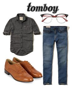 """androgynous style"" by cas-k ❤ liked on Polyvore featuring Hollister Co."