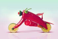 #akatoa #lemon #chili #bike  Artist : Dan Cretu