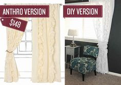 Sew some ruffled curtains. | 38 Anthropologie Hacks