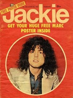 Jackie magazine the late Marc Bolan of T Rex. 1970s Childhood, My Childhood Memories, 1970s Music, Marc Bolan, Girls Magazine, Popular Girl, I Remember When, Teenage Years, The Good Old Days