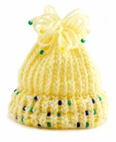Beaded Hat made using the Knifty Knitter Loom- Ugly hat but great use for left over beads for me...