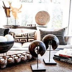 Must Have African inspired Decor Home Decor african home decor African Living Rooms, African Room, African Themed Living Room, African Art, Ethnic Decor, Tribal Decor, Ethnic Chic, My Living Room, Living Room Decor