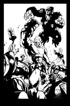 Mahmud Asrar Hellboy pin-up Inking by VincentDorian.deviantart.com on @deviantART