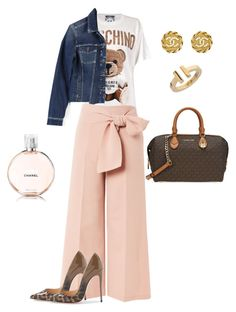 Morning outfit by loredana-tonno on Polyvore featuring polyvore, fashion, style, Moschino, Paige Denim, Topshop, Michael Kors, Chanel, Tiffany & Co. and clothing