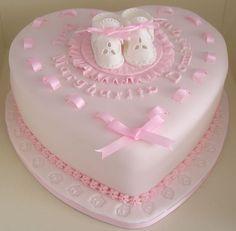 Pin Pink Booties Christening Cake 384 On Pinterest