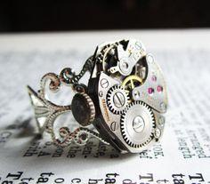 Steampunk Ring watch movement - MOR Katz Swiss movement ~LOVE~