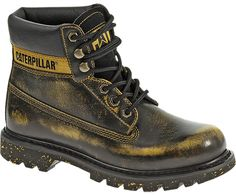 Caterpillar Colorado-Plus Boys//Infants Red Classic Lace Up Boots