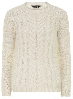 Ivory chunky jumper on shopstyle.com