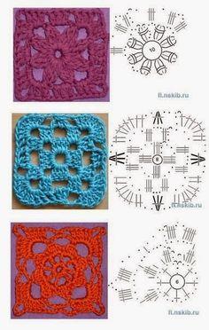 Horgolt mintagyűjtemény: Blokkok