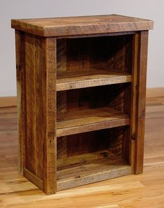 hunting for rustic wood bookcase ideas.) - Wood Bookcases - Ideas of Wood Bookcases - hunting for rustic wood bookcase ideas. Reclaimed Wood Bookcase, Rustic Bookshelf, Reclaimed Barn Wood, Barnwood Ideas, Small Bookcase, Wooden Bookcase, Bookshelves, Wood Shelf, Pallet Ideas