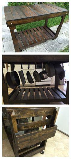 Rolling kitchen cart #KitchenIsland, #RecycledPallet http://www.1001pallets.com/2014/01/rolling-kitchen-cart/?utm_content=bufferab893&utm_medium=social&utm_source=pinterest.com&utm_campaign=buffer  http://calgary.isgreen.ca/food-and-drink/recipes/orange-and-mango-crumble-vegan/?utm_content=buffer24e8e&utm_medium=social&utm_source=pinterest.com&utm_campaign=buffer