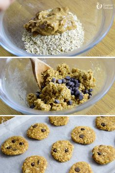 cookies de manteiga de amendoim Sweet Recipes, Vegan Recipes, Snack Recipes, Healthy Bars, Healthy Snacks, Menu Dieta, Vegan Candies, Good Food, Yummy Food