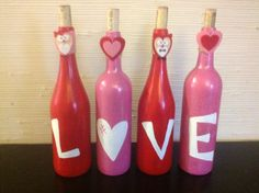 LOVE wine bottles hand painted!