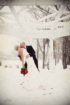 Winter weddings are so magical! Photo by Ashley. #minnesota #wedding #photography  @Kelly McCullough