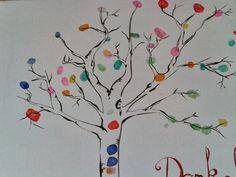 farbenfroh: das schnelle Abschiedsgeschenk - oder - Fingerprint-Baum