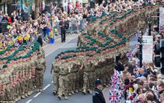 Around 700 Royal Marines from Royal Marines 40 Commando march through Taunton during a homecoming parade to mark their final deployment to Afghanistan. 16th May 2013