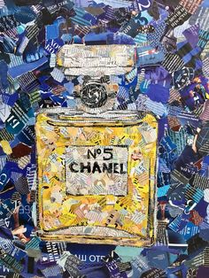 @r_e_g_i_n_a_aaart collage art magazine Chanel N*5