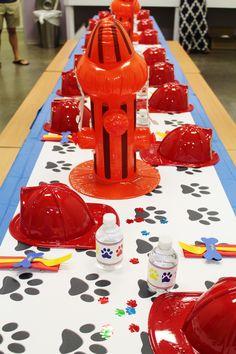 Paw patrol party ideas; paw patrol decorations; paw patrol marshall theme