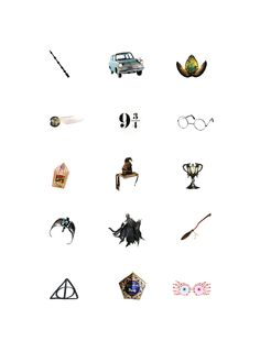 (54) Tumblr These would make excellent Harry Potter tattoos
