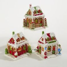 B/O LED GINGERBREAD HOUSE 3A