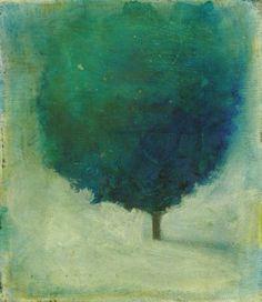 Solitary Tree: Blue and Green by SethFitts.deviantart.com on @deviantART