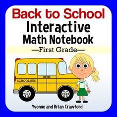 Back to School Interactive Math Notebook Second Grade Common Core The New School, New School Year, Back To School, Interactive Math Journals, Math Notebooks, First Grade, Second Grade, September Themes, Literacy Worksheets