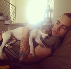 Thank you Mrs. Urie for providing us with such beautiful pictures of your beautiful husband with puppies. I appreciate it. - a urie girl