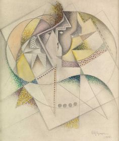 Jean Metzinger (French, 1883 - 1956) Composition with two faces (Composition au deux visages), 1918 Watercolour