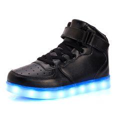 d10c3c74 Usb ładowania koszyk eur25-40 świecenia led dzieci shoes sneakers z light  up złoto srebro