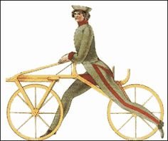 "Like the Human species, the bicycle did not start out the way it is today. The earliest predecessor to the bicycle was known as the ""Draisines"", or Laufmaschine, (""running machine""), and was invented by Baron Karl von Drais. Composed of a wooden frame and handles, the ""Draisines"" was a method of transportation which the rider could steer while pushing the bike along with his feet (Canadians Science and Technology Museum, 2006)."